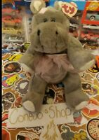 """12"""" TY Beanie Babies """"Grace"""" The Hippo 1993 The Attic Treasures Collection"""