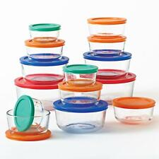 Pyrex 28 piece Glass Food Storage Containers Set Bowls with Lids, Made in USA