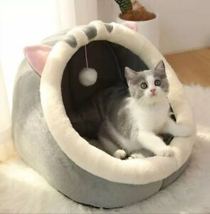 Soft Cat Dog Bed House Warm Pet Basket For Cat Cushion Cat Tent Kitten Lounger