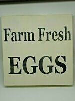 "Vintage Style Wood Sign ""Farm Fresh Eggs""-2031"