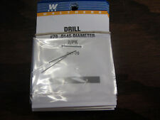 """Walthers Hobby Tools:  Drill Bits (pack of 2) .0145""""  #79  947-79"""