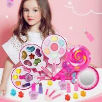 Mädchen Makeup Set Kinder Kosmetikkoffer Kosmetiktasche Schminkkoffer Spiel W0F9