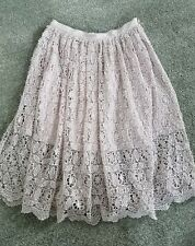 NWT Miss Selfridge Light Pink Lace Crochet Swing Skirt BEAUTIFUL! Size 8