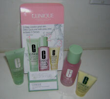 CLINIQUE 3 PC TEN DAY GREAT SKIN CARE 3 STEP SKIN CARE SYSTEM TYPE OILY BNIB