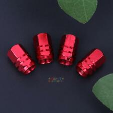 4Pcs Car Truck Bike Aluminum Tire Wheel Rims Stem Air Valve Caps Tyre Cover Red