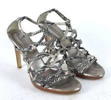 Banana Republic Snake Skin Print Leather Strappy High Heels Shoes Ankle Strap 8