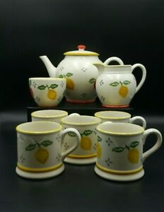 Laura Ashley Hand Decorated Summer Fruits Tea Set-Excellent Condition