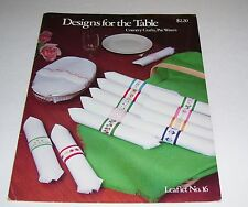 COUNTED CROSS STITCH PATTERN LEAFLET DESIGNS FOR THE TABLE #16 PAT WATERS