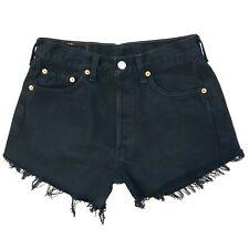 Levi's 501 Mujer a Medida Negro Original Corte Recto con Pantalones Cortos W28