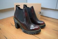 DR MARTENS HURSTON LEATHER HEELED BOOTS CHERRY RED Arcadia SIZE UK 5 EU 38 US 7