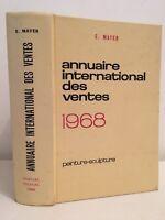 E. Mayer Annuario Internazionale Delle Vendita 1968 Pittura-Scultura