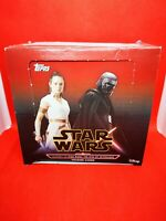 box display 30 Boosters pochettes Cartes trading cards topps STAR WARS