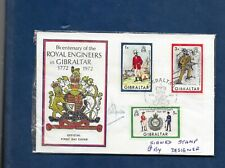 GIBRALTAR 1972 ROYAL ENGINEERS FDC SIGNED BY A RYMAN,DESIGNER