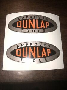 "Dunlap Tools decals 2 1/8"" long Sears Vintage Tool  box Set 2"