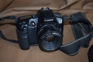 Canon EOS D60 Camera With 3 Lens 50mm 80/200mm 28/80mm Bag/Charger/2 Battery