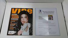 Michael Jackson Signed/Autographed Vibe Magazine BAS Beckett Authentic #A02145