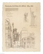 ART PRINT Statue of Liberty Paris 10 1/2x13 1/2 Yves Poinsot