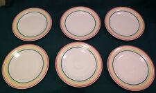 Set of 6,  NWT Fiesta Ware WHITE SIGNATURE LINES Luncheon Plate 9""