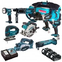 MAKITA 18V LI-ION 8 PIECE KIT WITH 3 X 5.0AH BATTERIES AND LXT600 BAG