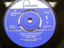 cleo laine       yuo'll answer to me   V/GOOD+