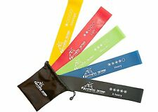 Top Selling Best Resistance Loop Bands - Set of 5 - 100% Latex - Legs & Arms