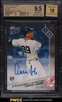 2017 Topps Now Blue Aaron Judge ROOKIE RC AUTO /49 #336B BGS 9.5 GEM MINT