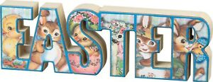 Easter Vintage Style Chunky Wood Sitter Sign Primitives By Kathy Spring Decor