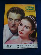 1954 THE ROBE Japan VINTAGE PROGRAM Richard Burton Jean Simmons Victor Mature
