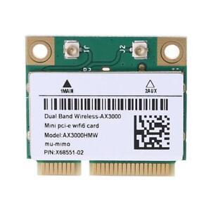 2974Mbps Wifi 6 Dual Band AX3000 Wireless Half Mini PCI-E Network Wlan Wifi Card