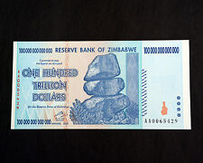 100 Trillion Zimbabwe, Uncirculated, Excellent condition