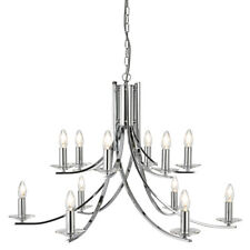 Searchlight 41612-12CC Ascona Chrome 12 Light Fitting With Clear Glass Sconces