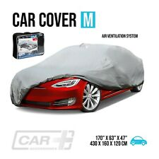 Car Cover Size M Resist Waterproof Protection All Weather Air Ventilation System