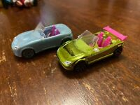 POLLY POCKET  LOT OF 2 DIFFERENT CONVERTIBLE DIE-CAST CARS