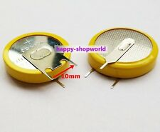 2 x New Tabbed 3V CR2450 Battery Cell Button With 3 solder Horizontal Tabs/Pins
