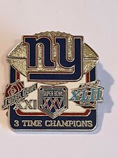More details for new york giants   nfl metal pin badge  3 x super bowl champions