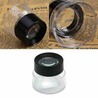 10x Juwelier Schmuck Lupen Vergrößerungs-glas-Labor Reparatur Lup D9X8 Uhrm P5Q1