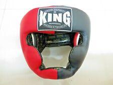 Casques de boxe KING Rouge/Noir XL cuir veritable (Fairtex, TWINS, Yokkao)