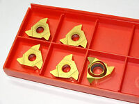 5 new SANDVIK Coromant R166.0L-22V501-0402 1020 Carbide Threading Inserts #81460
