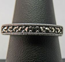 BEAUTIFUL ESTATE STERLING SILVER MARCASITE STACKABLE BAND RING SIZE 8