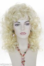 Light Pale Blonde Blonde Medium Wavy Curly Wigs
