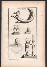 EGYPT DIFFERENT DEITIES STRANGE EGYPTIAN engraving of MONTFAUCON 1719