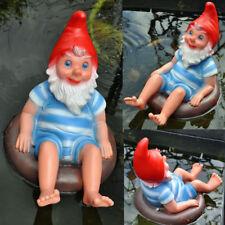 Gartenzwerge im Schwimmreifen Rettungsring GERMANY  NEU   R#0745 Zwerg auf Ring