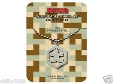 GI JEWELRY,  U.S. Military, IZUMO - Necklace Pendant With Beaded Chain SPIRITUAL