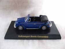1:64 Kyosho Volkswagen Beetle Convertible Blue Diecast Model Car