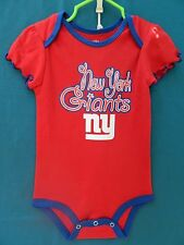 NWOT NFL Team Apparel Red Snapcrotch Bodysuit w/NY Giants Size 18 Months