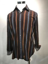 Banana Republic Men's Striped Shirt 16-16 1/2 Contrasting Fabric on French Cuff