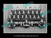 OLD LARGE HISTORIC PHOTO NEW ZEALAND ALL BLACKS RUGBY UNION TEAM 1974