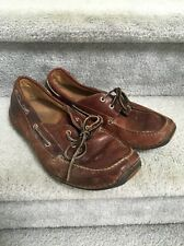 TIMBERLAND 74013 Annapolis Men's BROWN LEATHER Boat Shoes Size 9.5W