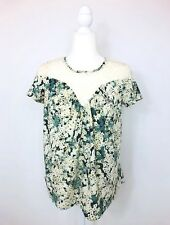 LC Lauren Conrad Shirt Gypsy Floral Lace Top Sweetheart T-Shirt Top Sz XS EUC