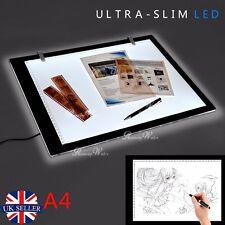 A4 LED Ultra Fin Art Artisanat DESSIN traçage Tatouage Boîte à lumière NEUF